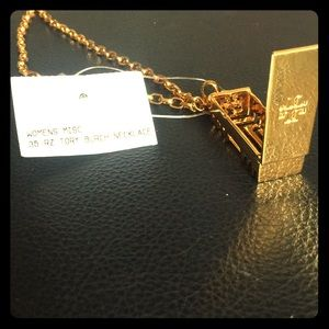 Tory Burch gold linked necklace for Fitbit